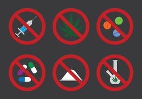 No Drugs Icon Vector