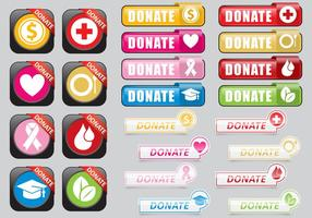 Donate Web Buttons vector
