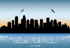 Charlotte North Carolina Skyline Illustratie