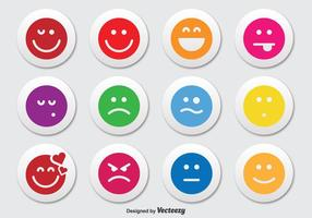 Emoticon knop icoon set