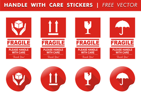 Hantera Med Care Stickers Gratis Vector