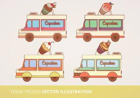 Food Trucks Vector Illustration