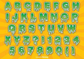 Conjunto do alfabeto do Dia das Bruxas