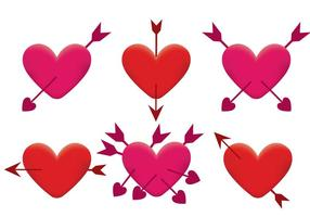 Flecha a través del vector del corazón