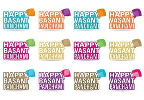 Happy Basant Festival Vectors