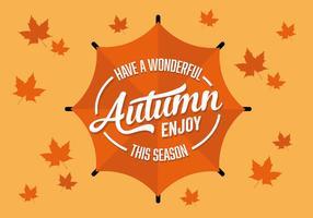 Free Flat Herbst Jahreszeit Vektor Hintergrund