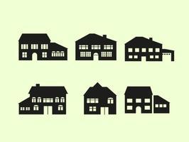 Vecteur libre d'architecture de maison