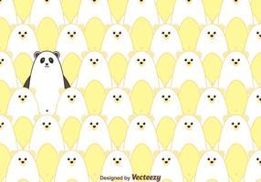 Isbjörn och panda mönster vektor