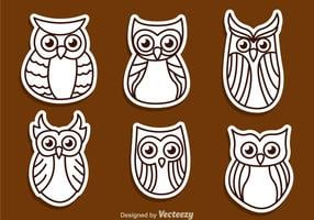 Owl Outline Vectors