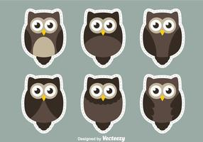 Owl Sticker Vectors
