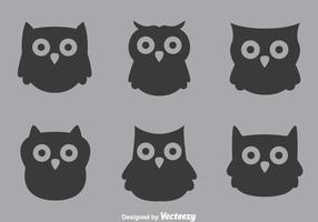 Gray Owl Vectors