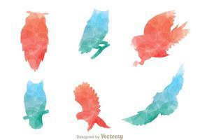 Silhouette Owl Vektoren