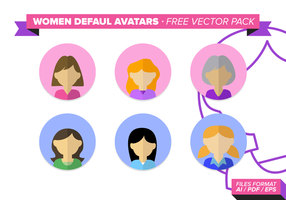 Frauen Default Avatar Free Vector Pack