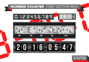 Pack de vetores grátis do número de contadores