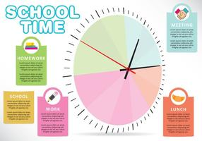 Tiempo escolar vectorial