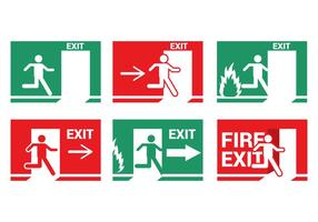 Fire Emergency Exit Vector