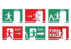 Vetor de saída de emergência de incêndio