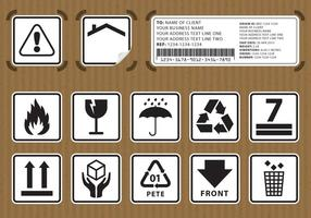 Packaging Stickers vector