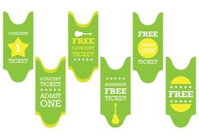 Green Concert Ticket Vector