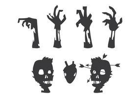 Vector del cuerpo del zombi