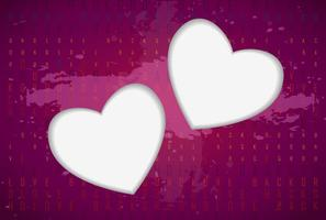 Liebe Herzen Vektor Hintergrund