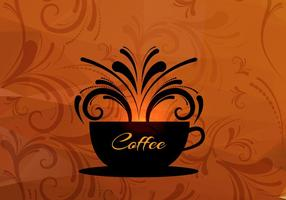 Koffie kop vector achtergrond