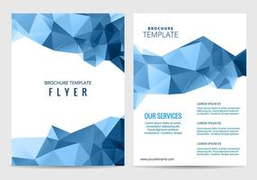 Vector empresarial folleto