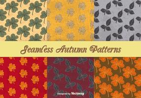 Autumnal seamless patterns vector