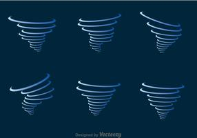 Blue Tornado Icons Set