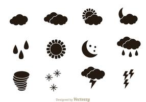 Wetter Black Icons vektor