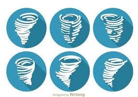 Tornado Lange Schatten Icons