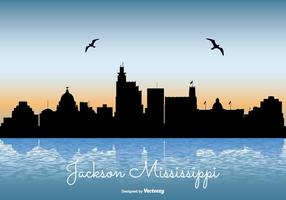 Jackson Mississippi Skyline Illustration