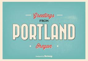 Portland Oregon hälsning illustration