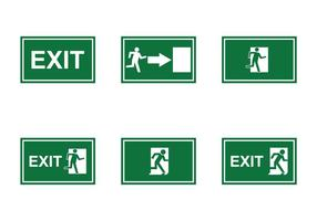 Vecteur de signe de sortie d'urgence gratuit