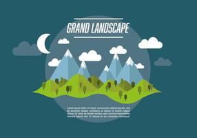 Web Travel Vector Background With Beautiful Landscape