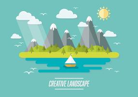 Free Web Travel Vector Background With Beautiful Landscape