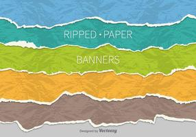 Ripped paper banners