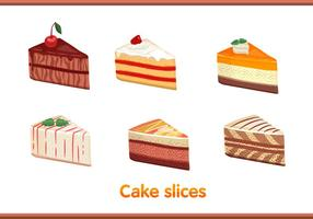 Cake slice vectoren