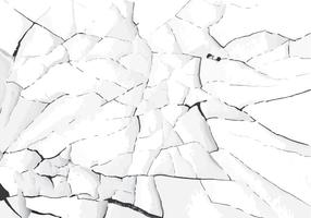 Blanco agrietado pintura vectorial