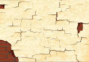 Cracked paint texture wall vector