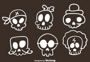 Vector Skull Sketch Icons