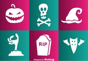Vector Halloween White Icons