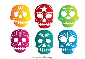 Colorido Ornamental Skulll vectores