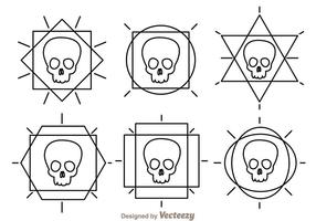 Skull Outline Vector Ikoner