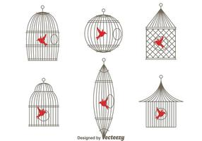 Cage d'oiseaux vintage simple et simple