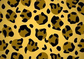 Texture de vecteur imprimé animal léopard