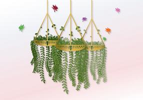 Vector Hanging Pot con fiori