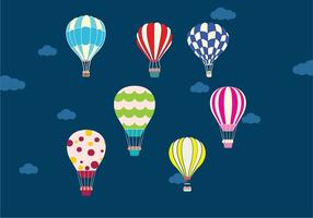 Air balloon in the sky vector