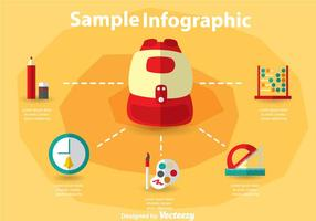 School Bag Infography vector
