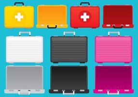 Colorful Suitcases vector